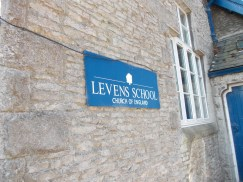 Levens School sign - 18.7.13